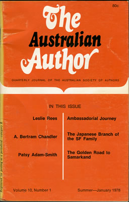 The Australian Author - Jan 1978